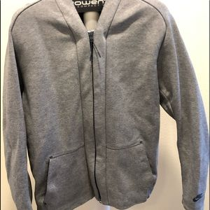 Grey/Navy zip up cardigan sweatshirt. Size XL